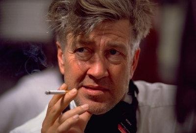 Il regista David Lynch sul set di Mulholland Drive