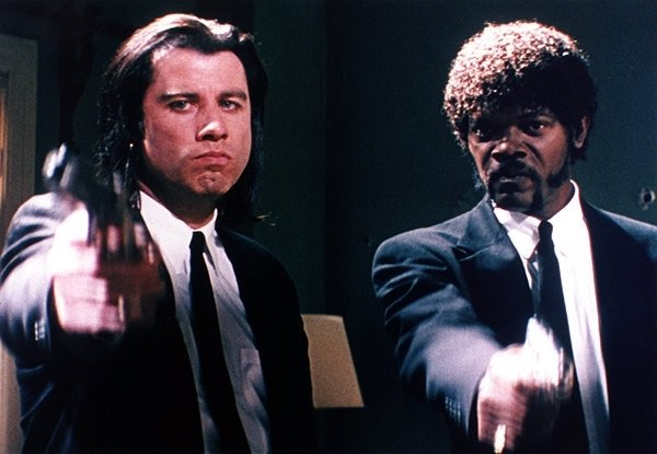 Vincent Vega (John Travolta) e Jules Winnfield (Samuel L. Jackson) in Pulp Fiction
