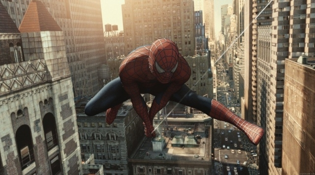 Una scena del film Spider-Man 2