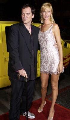 Quentin Tarantino e Uma Thurman alla prima del film Kill Bill Vol. 1 a Los Angeles