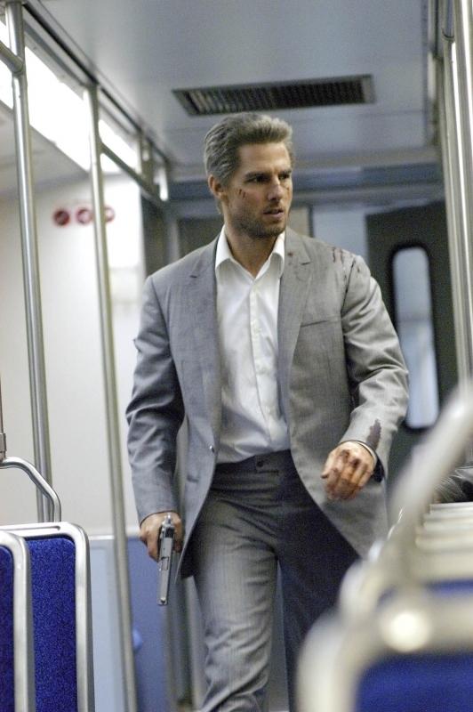 Tom Cruise in una sequenza di Collateral