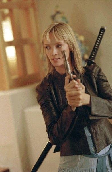Uma Thurman è la vendicativa protagonista del film Kill Bill: Volume 2