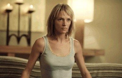 Uma Thurman in una scena del film Kill Bill: Volume 2