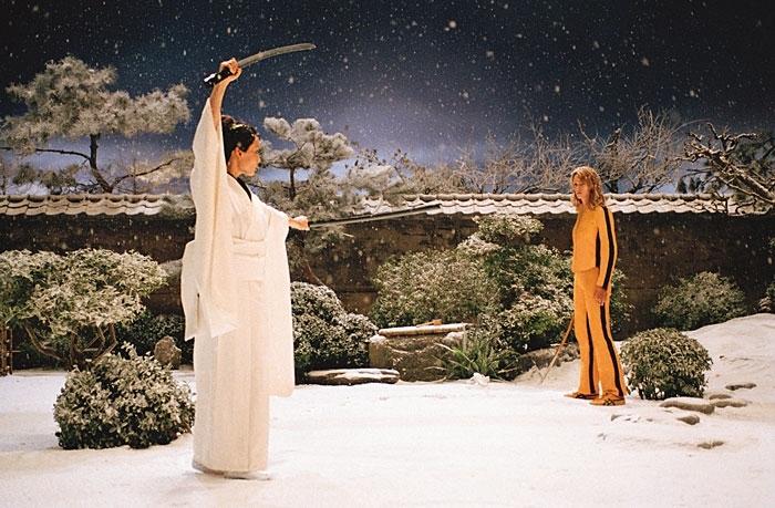 Uma Thurman e Lucy Liu si affrontano in Kill Bill vol. 1