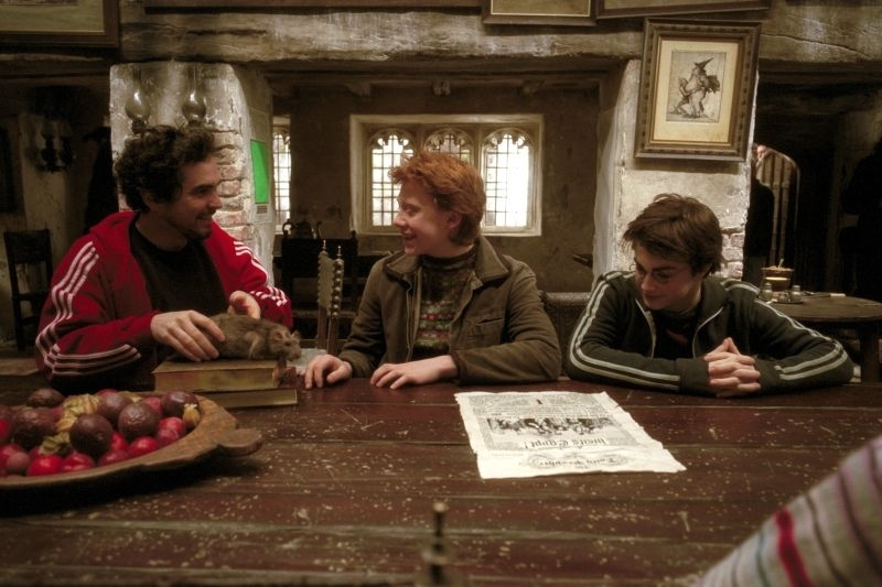 Cuarón sul set coi giovani Grint e Radcliffe