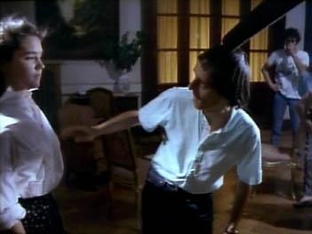 Dario Argento con Jennifer Connelly sul set di Phenomena