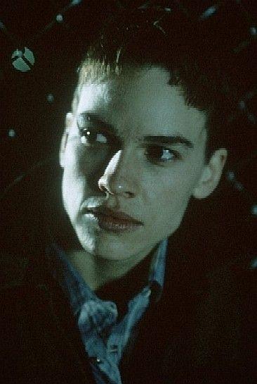 Hilary Swank in una scena di Boys Don't Cry