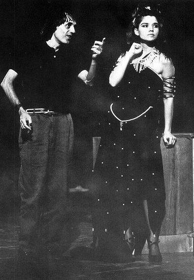 Dario Argento e Cristina Marsillach sul set di Opera