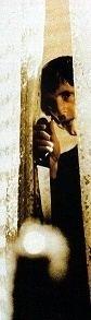 Dario Argento in una curiosa immagine scattata sul set di Opera