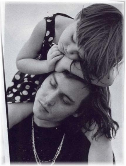 Johnny Depp con la nipotina Megan, in una foto per il magazine Vogue