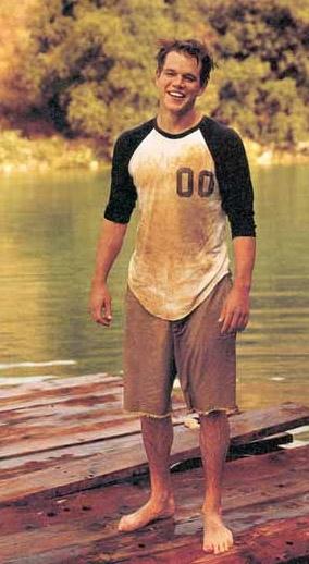 Matt Damon sporco di fango