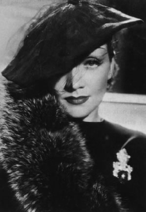 un ritratto di Marlene Dietrich