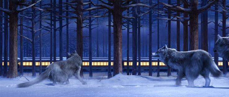 Una suggestiva scena del film Polar Express