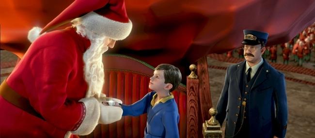 Una scena del film Polar Express