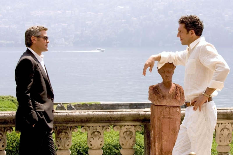 Vincent Cassel e George Clooney in Ocean's Twelve