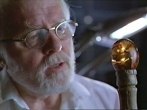 Richard Attenborough in una scena di Jurassic Park