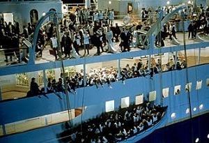 Una scena del film Titanic