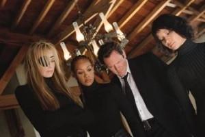 Lucy Liu, Daryl Hannah, Vivica A. Fox e Michael Madsen in una scena di Kill Bill: Volume 1