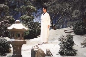 Lucy Liu in una scena del film Kill Bill: Volume 1
