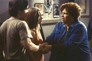 Gina Philips, Justin Long e Patricia Belcher in una scena di Jeepers Creepers - Il canto del diavolo