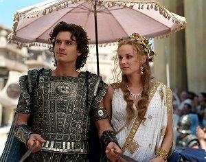 Orlando Bloom e Diane Kruger in una scena di Troy