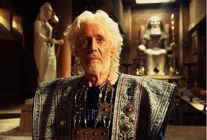 Peter O'Toole in una scena di Troy