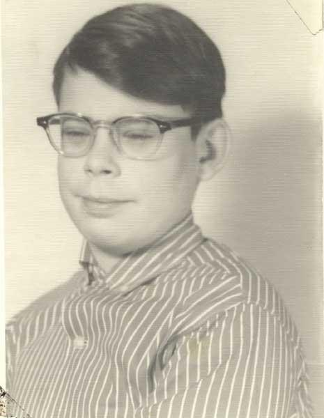 Stephen King in una foto di scuola