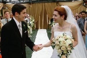 Jason Biggs e Alyson Hannigan in una scena di  American Pie - Il matrimonio