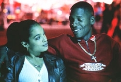 Rosario Dawson e Ray Allen in una scena di He Got Game