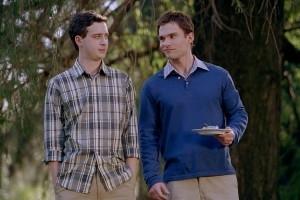 Seann William Scott e Eddie Kaye Thomas in una scena di American Pie - Il matrimonio