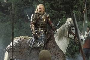 Bernard Hill in una sequenza di Il signore degli anelli - Il ritorno del re