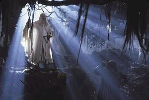 Ian McKellen in una scena di Il signore degli anelli - Le due torri