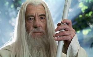 Ian McKellen in una scena de Il signore degli anelli - Le due torri