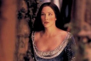 Liv Tyler in una scena di Il signore degli anelli - Le due torri