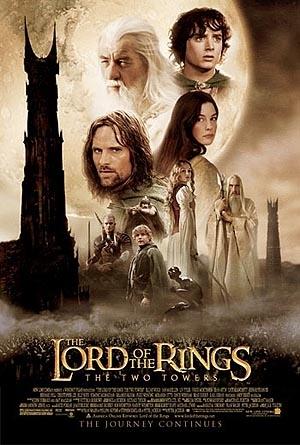Poster internazionale del film Il signore degli anelli - Le due torri