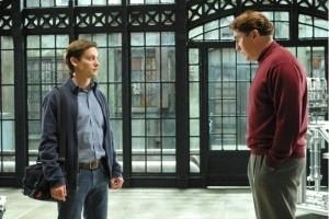 Tobey Maguire e Alfred Molina in una scena di Spider-Man 2