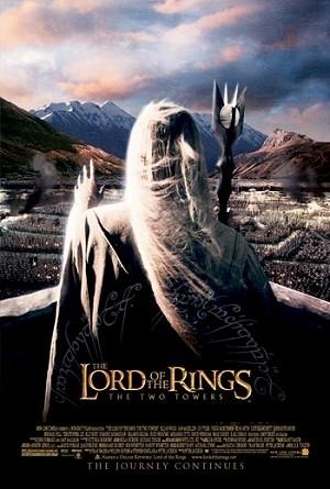 Un poster del film Il signore degli anelli - Le due torri