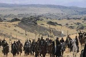 Una scena del film Il signore degli anelli - Le due torri, secondo capitolo della trilogia dell'anello