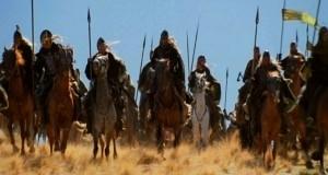Una scena del film Il signore degli anelli - Le due torri, diretto da Peter Jackson nel 2002