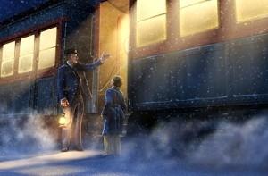 Una bella scena di Polar Express