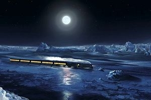 Una scena di Polar Express
