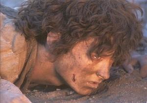 Elijah Wood in una scena del fantasy epico Il signore degli anelli - Il ritorno del re