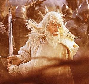 Ian McKellen in una sequenza di Il signore degli anelli - Il ritorno del re