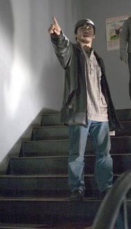 Takashi Shimizu sul set di The Grudge