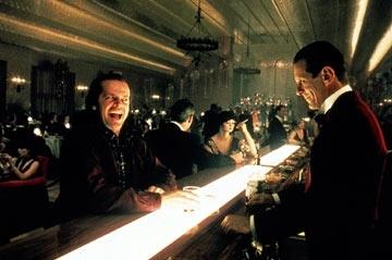 Jack Nicholson e Joe Turkel in una scena di Shining
