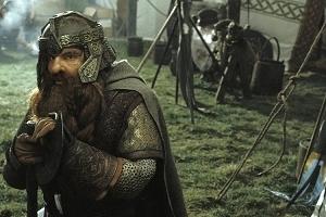 John Rhys-Davies in una sequenza di Il signore degli anelli - Il ritorno del re