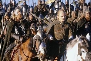 Orlando Bloom è Legolas in una scena di Il signore degli anelli - Il ritorno del re