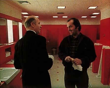 Philip Stone e Jack Nicholson in una scena di Shining