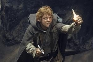 Sean Astin in una scena di Il signore degli anelli - Il ritorno del re di P. Jackson