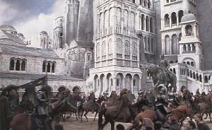 Una scena del fantasy-epico Il signore degli anelli - Il ritorno del re